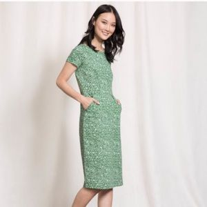 NWOT Boden Green & White Floral Cotton Dress 8